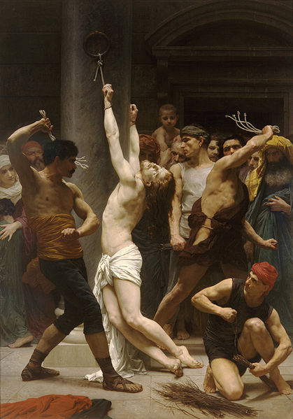 "William-Adolphe Bouguereau (1825-1905), ""The Flagellation of Our Lord Jesus Christ"" (1880) – Lizenz: gemeinfrei."