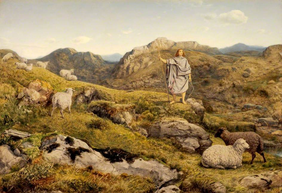 """David in the Wilderness"", William Dyce, ausgestellt in National Galleries of Scotland, Edinburgh – Lizenz: gemeinfrei."