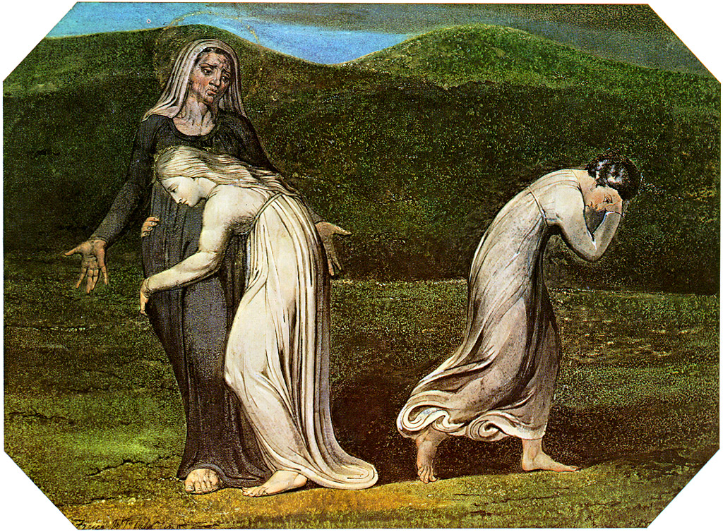William Blake, Naomi entreating Ruth and Orpah to return to the land of Moab, 1795 - Lizenz: gemeinfrei
