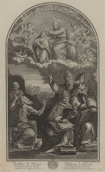 Ph. A. Kilian, Disputation der Immaculata Conceptio mit Kirchenvätern (ca. 1750), Wikimedia Commons