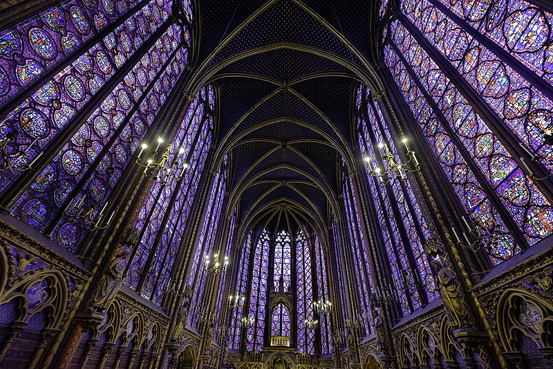 Sainte-Chapelle/Paris, Brandgemalte Glasfenster der Oberkapelle, Photo: Hardscarf (3.2.2019), CC Attribution International 4.0